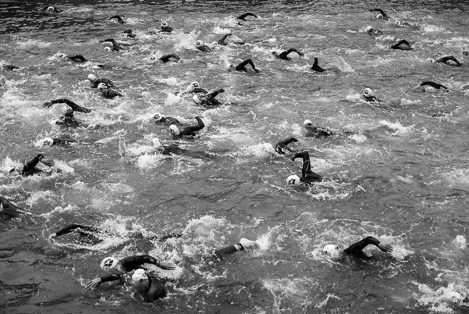 zwemmen tijdens de triatlon, het eerste onderdeel