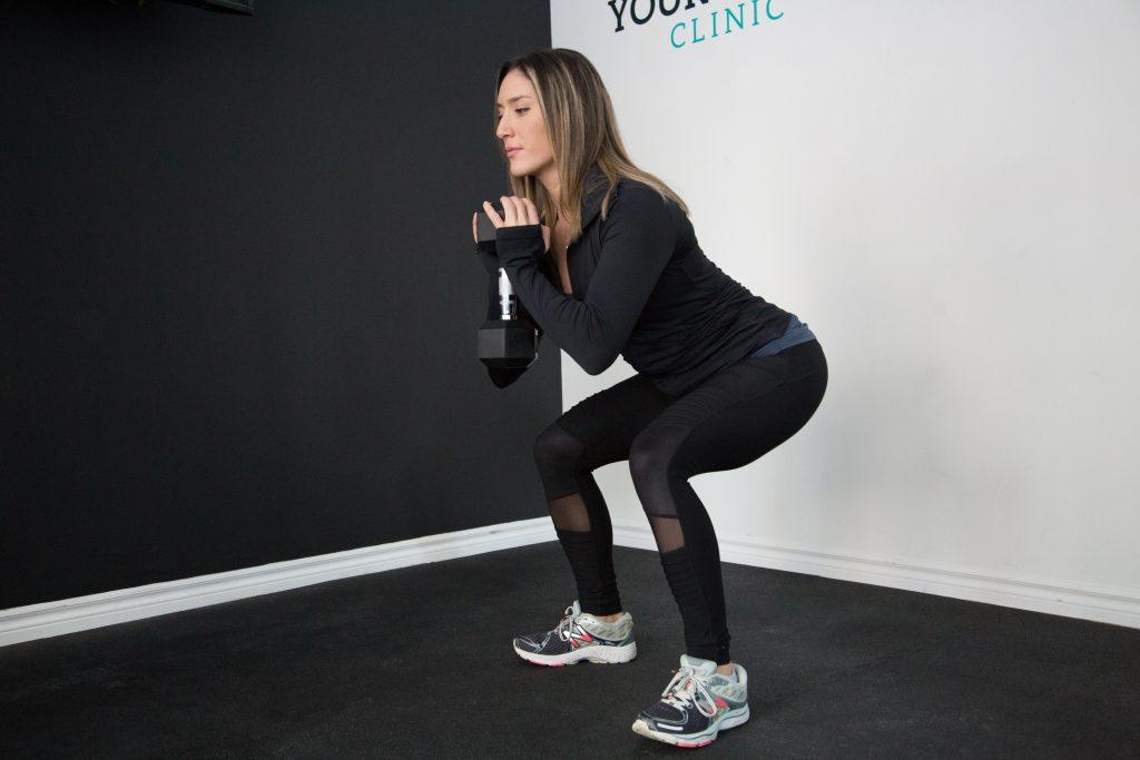 squat met extra gewicht